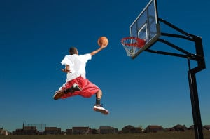 Fly high with the right outdoor basketball.