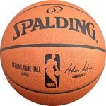 The NBA Official Game Basketball is Made of Genuine Leather