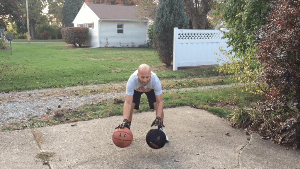 POWERHANDZ enhance two-ball dribbling drills.