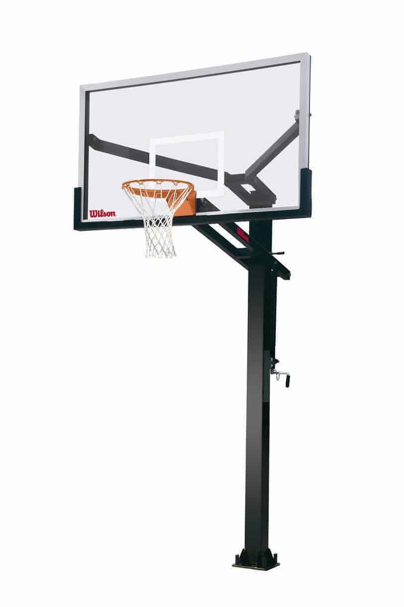 "Wilson 72"" Stadium Glass Basketball Hoop"