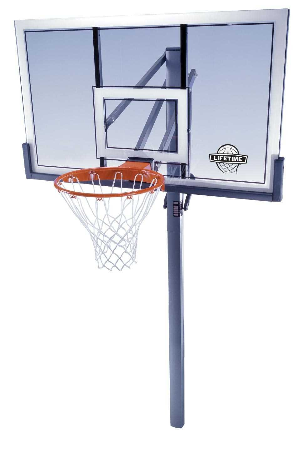 Main Features Pro Dunk Silver In Ground Basketball System